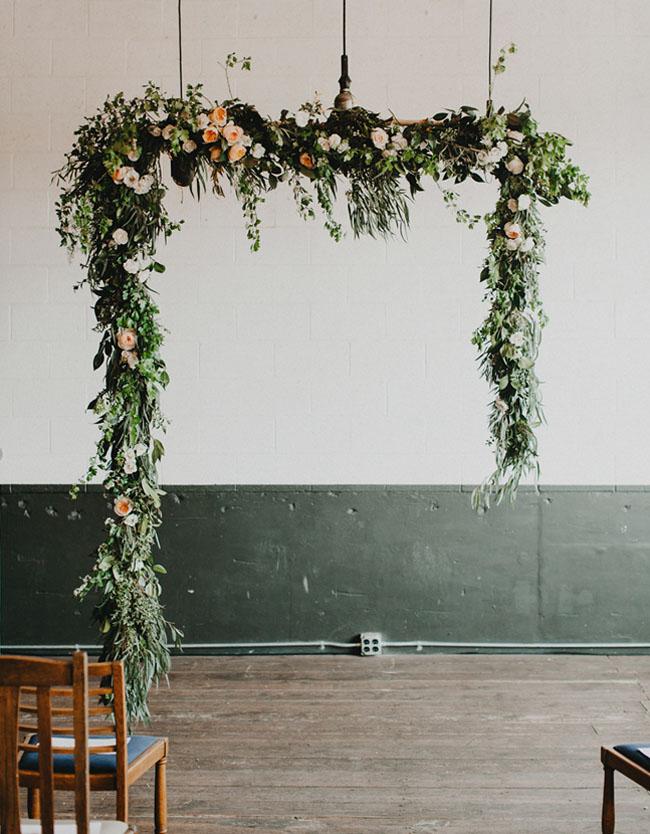 modern hanging garland