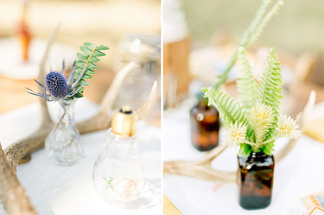 eclectic tablescape