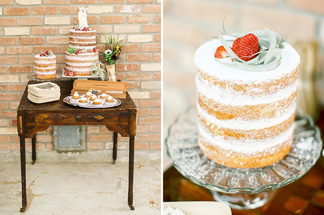 dusted naked cake