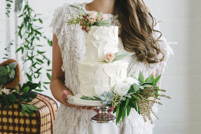 boho styled cake