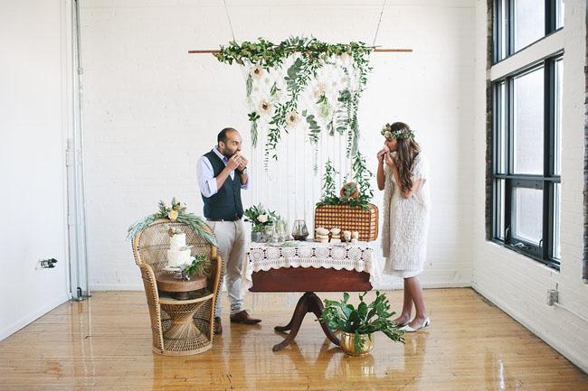 Bohemian Cake Table