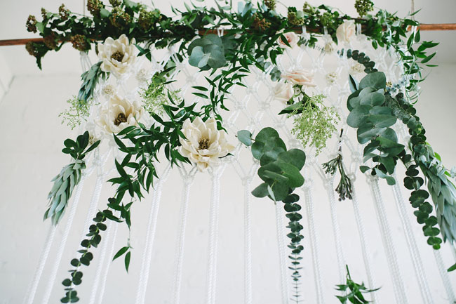 macrame with flowers
