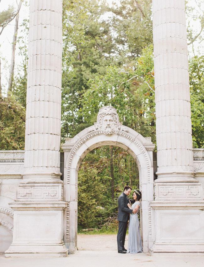 Whimsical Garden Engagement