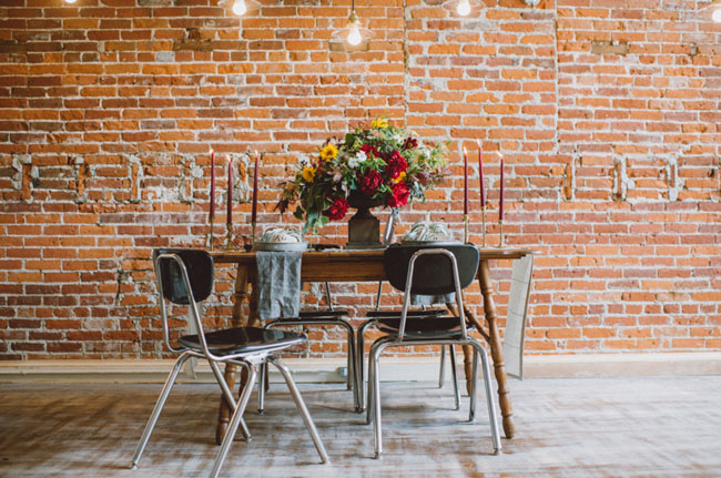 modern industrial tablescape