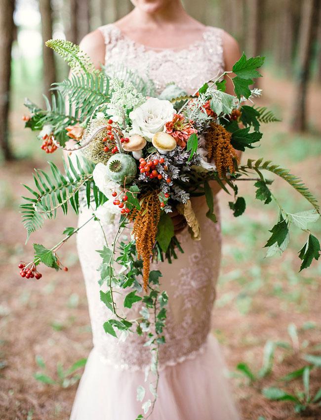 Whimsical Woodland Wedding Inspiration Green Wedding