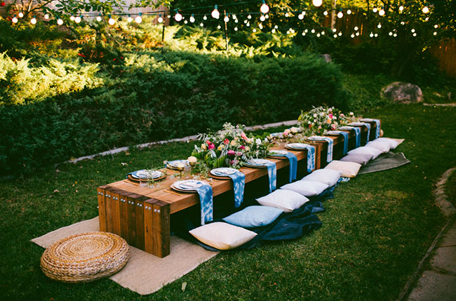 10 Tips To Throw A Boho Chic Outdoor Dinner Party