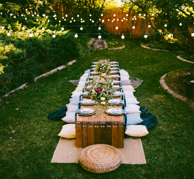 Attractive Diy Dinner Party Ideas Part - 4: 10 Tips To Throw A Boho Chic Outdoor Dinner Party - Green Wedding Shoes