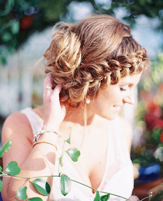 Bride with braids