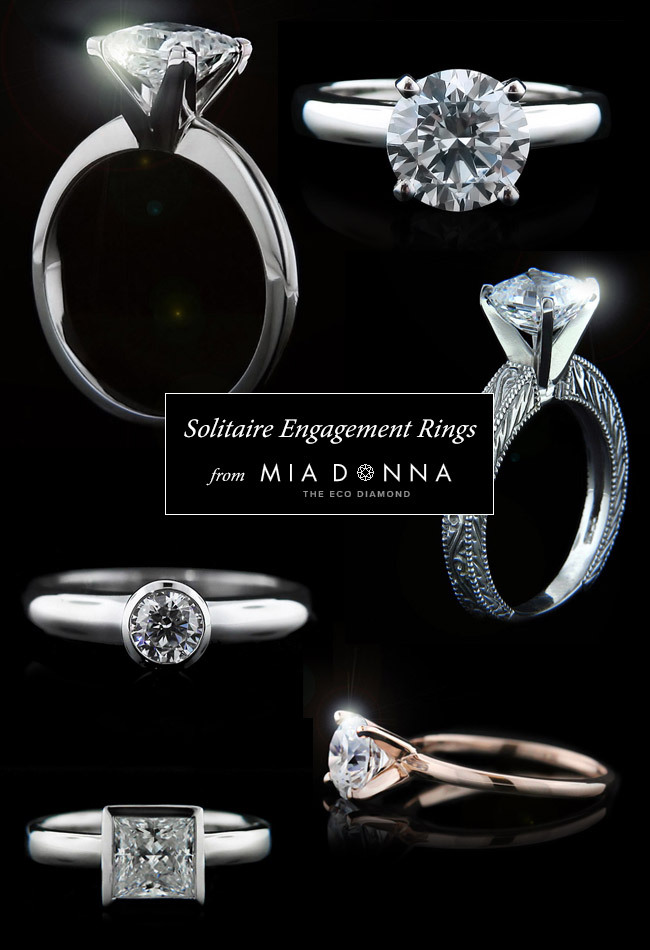 Solitaire Engagement Rings from MiaDonna