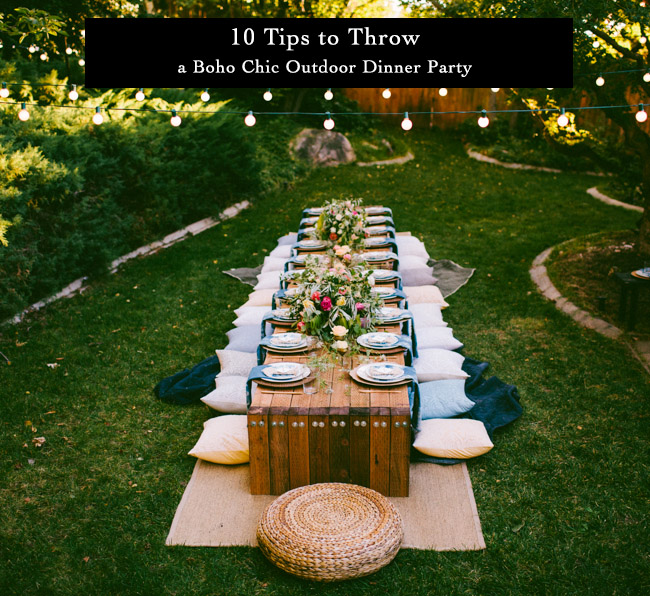 10 Tips to Throw an Outdoor Dinner Party
