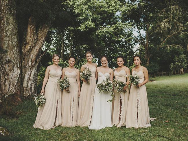 neutral bridesmaids