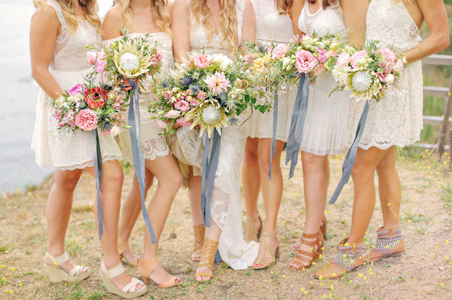 Intimate Bohemian Big Sur Wedding: Lisa + Ben - Green Wedding Shoes