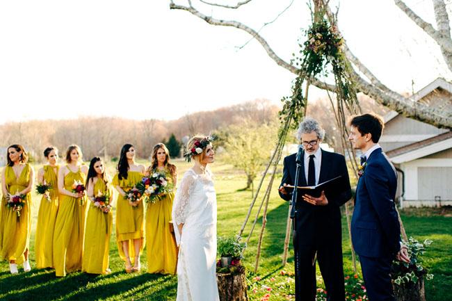 Boho Connecticut Wedding