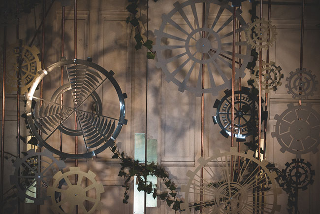 intricate gear backdrop