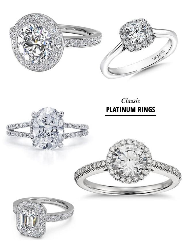 Modern Diamond Wedding Bands 15 Popular Glamorous Platinum Engagement Rings