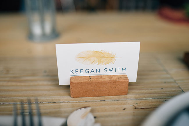 feather name card