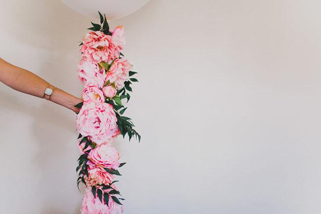 DIY Floral Balloon