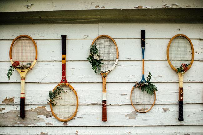 tennis racket backrop