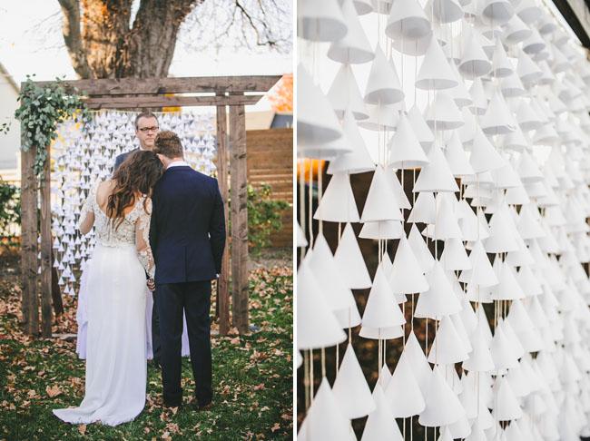 paper cone backdrop