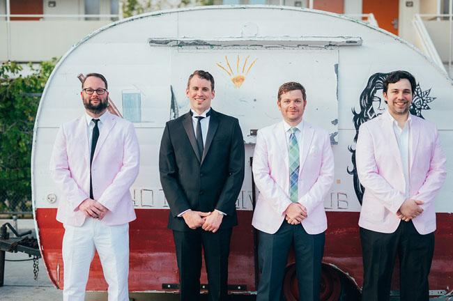 pink jacket groomsmen
