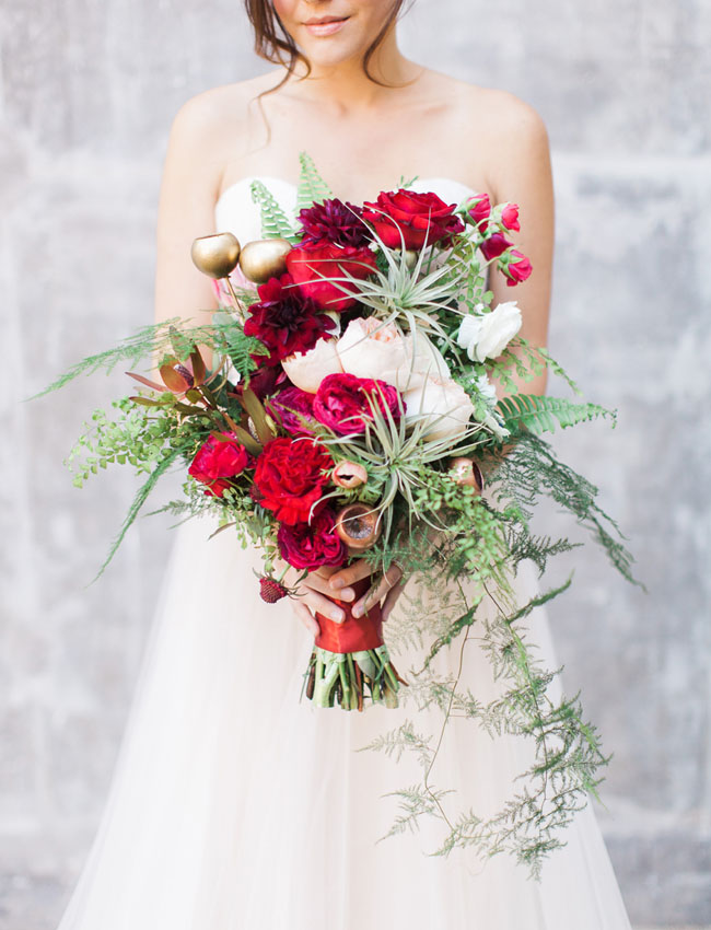 giant red bouquet