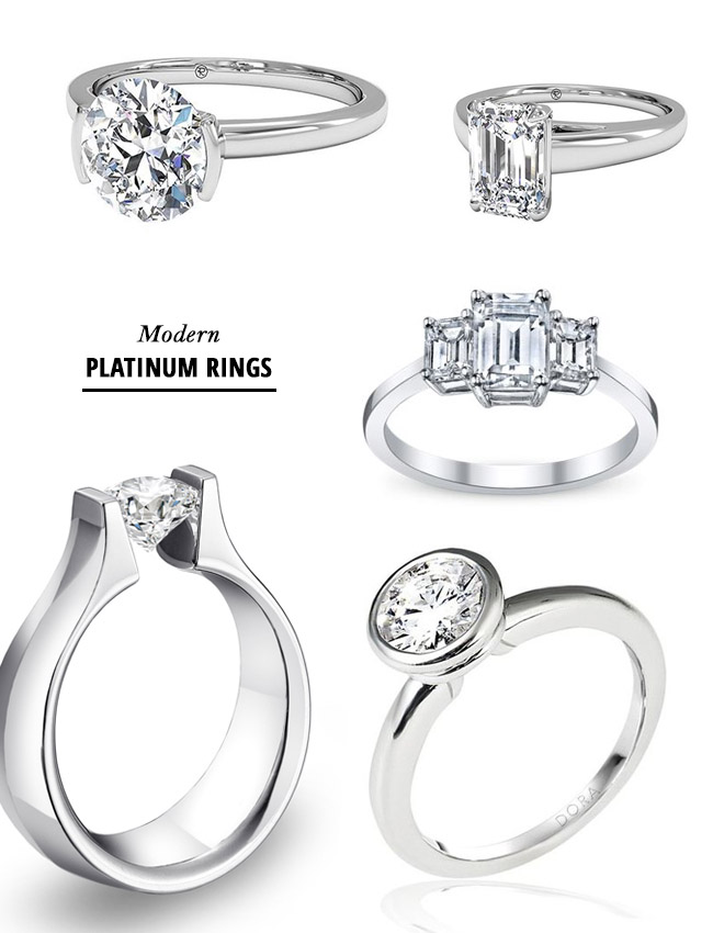 modern platinum rings