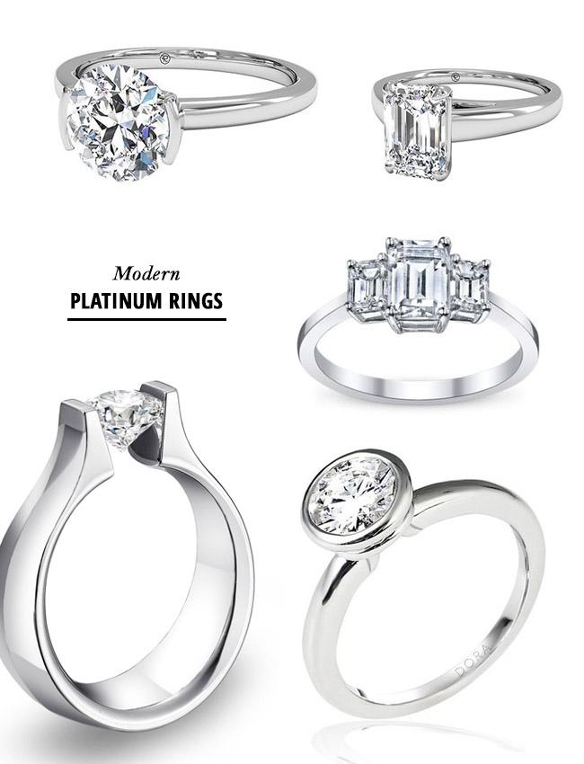 modern platinum rings