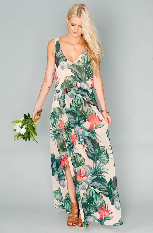 The new show me your mumu bridesmaid dress collection for Tropical wedding bridesmaid dresses