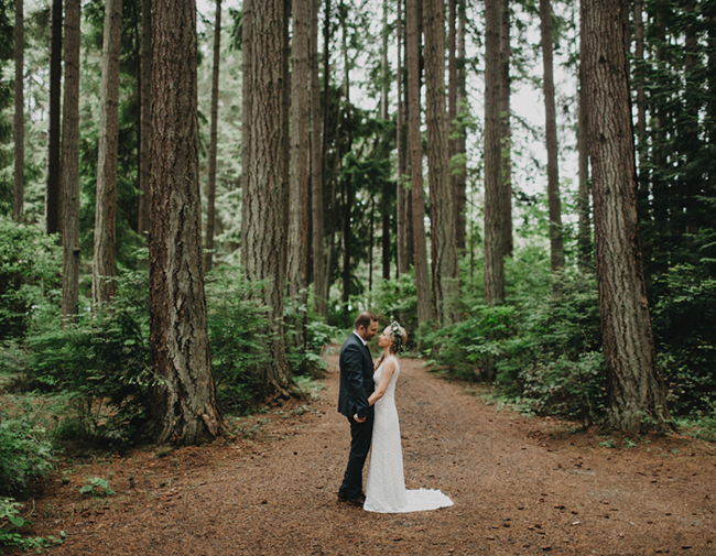 Handmade washington forest wedding allison cody green for Outdoor wedding washington state