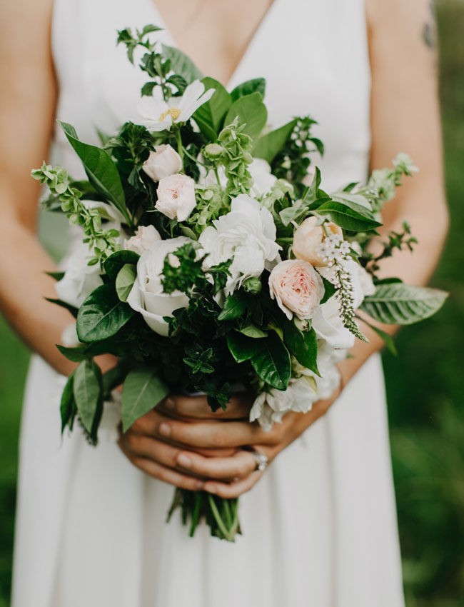 bouquet with greens