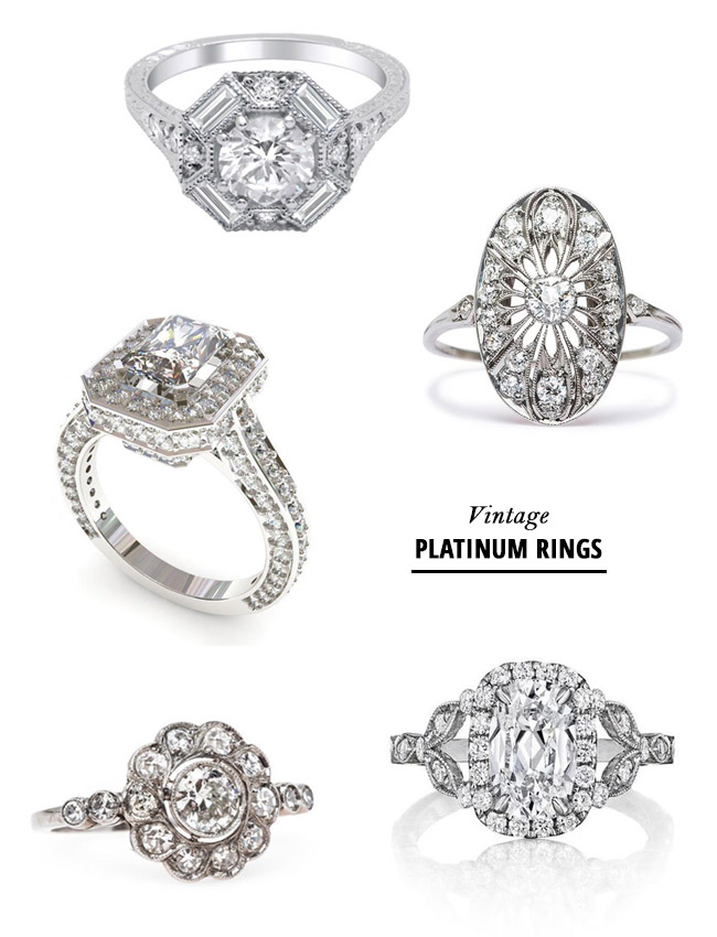 vintage platinum rings