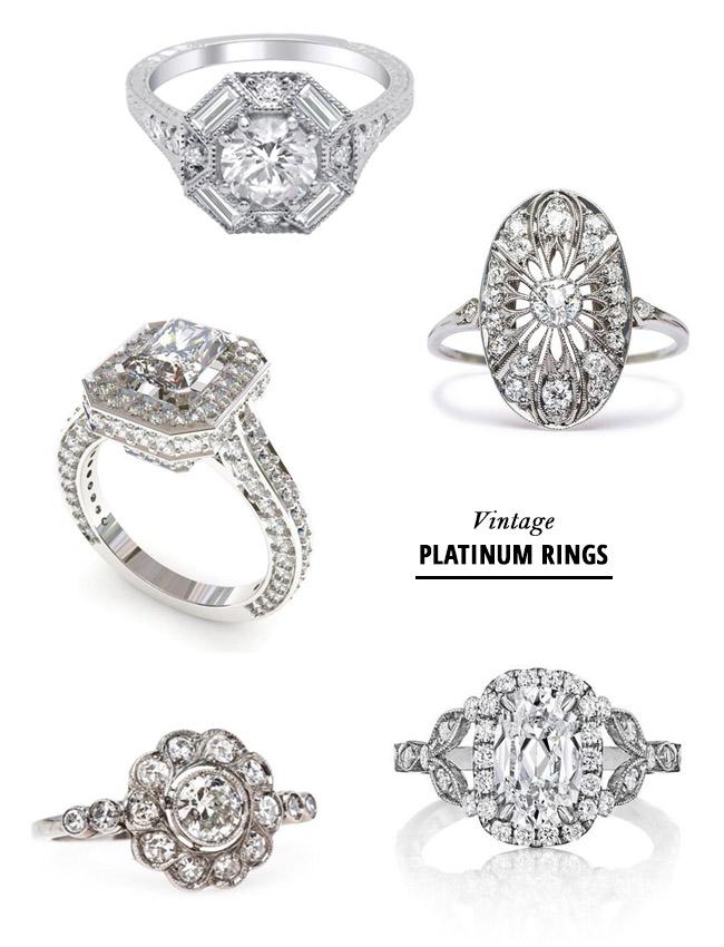 vintage platinum rings