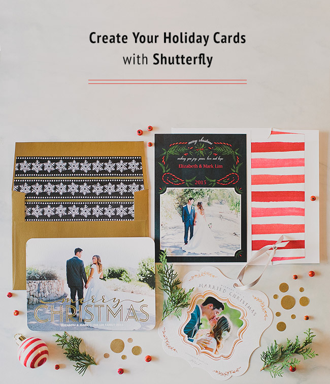 Create Your Holiday Cards with Shutterfly - Green Wedding Shoes