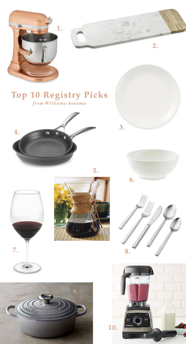 Our top 10 wedding registry items from williams sonoma green top 10 registry picks from williams sonoma junglespirit Images