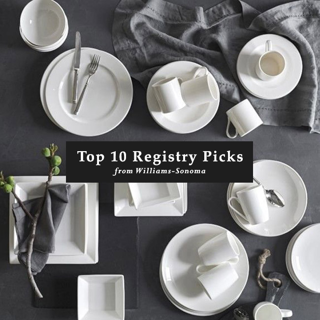 Our top 10 wedding registry items from williams sonoma green top 10 registry picks from williams sonoma junglespirit Choice Image