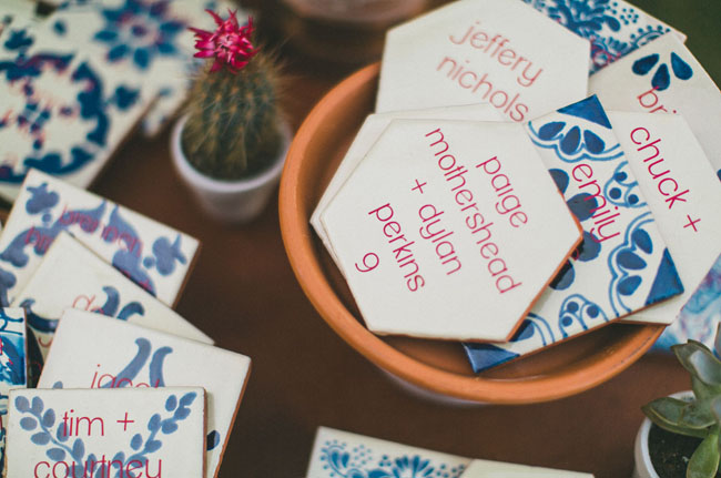 mexican tile escort cards