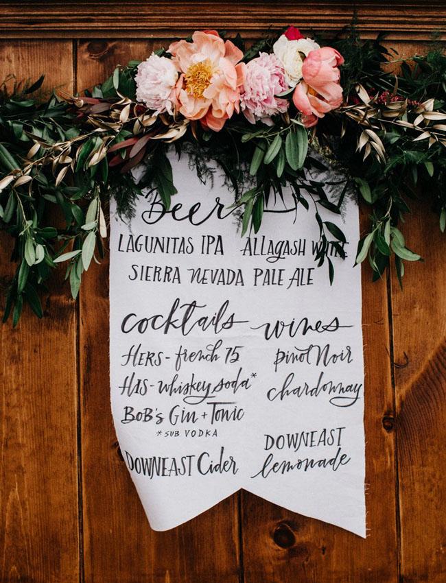 pennant menu