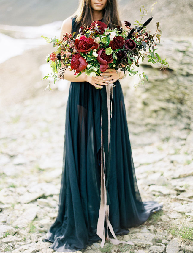 deep red bouquet