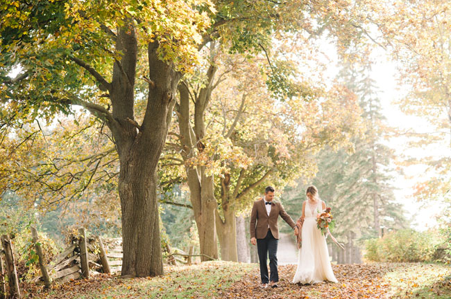 Autumn Countryside Ontario Elopement: Meagan + Andrew