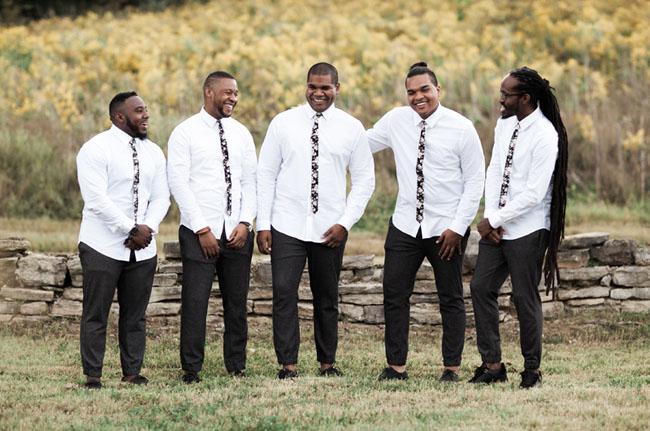 floral tie groomsmen