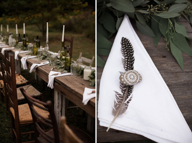 feather plate setting