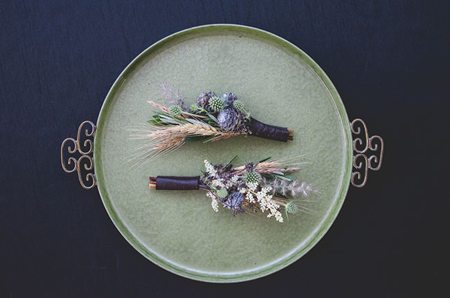 wheat boutonnieres