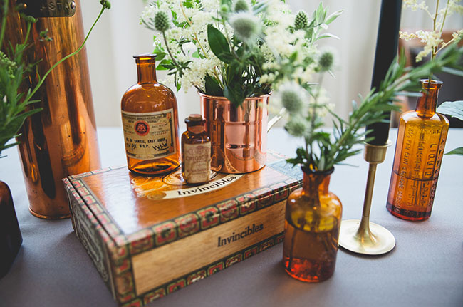 vintage bottle bud vases