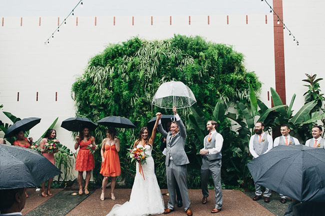 Rainy Los Angeles Wedding