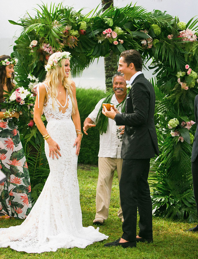Bohemian 70sInspired Kauai Wedding Cologne Sam Green