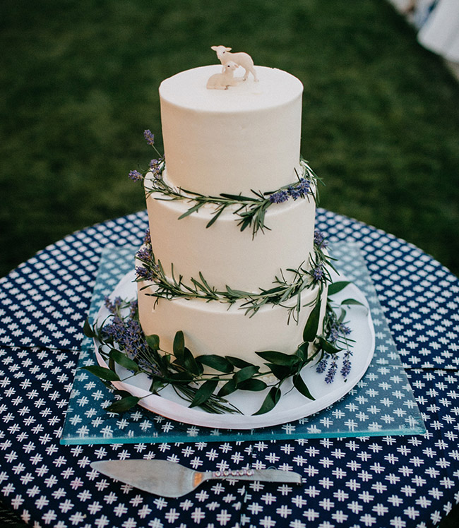lamp topper for a wedding cake