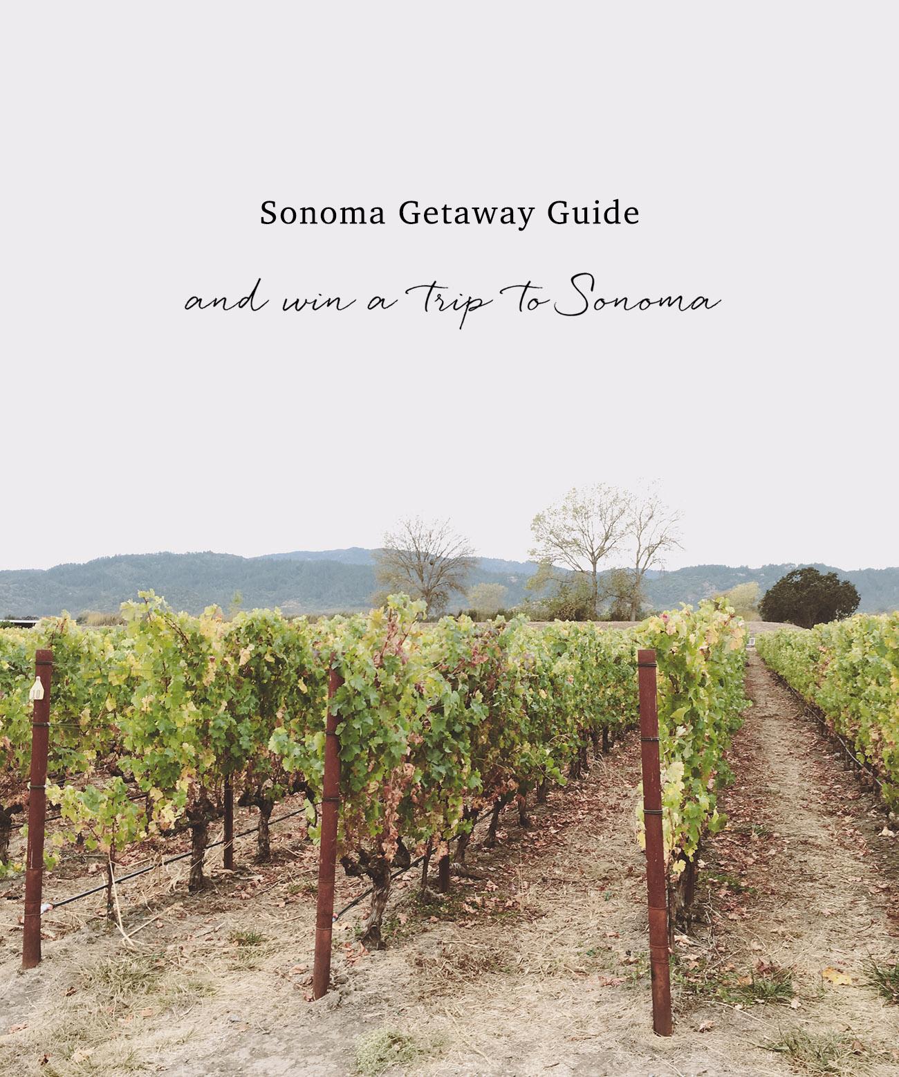 Sonoma Getaway Guide