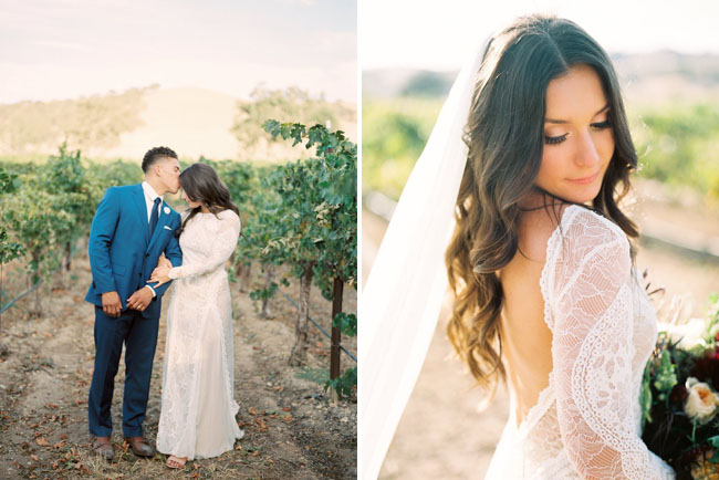 Boho Chic Vineyard Wedding Ashlee Jeremy