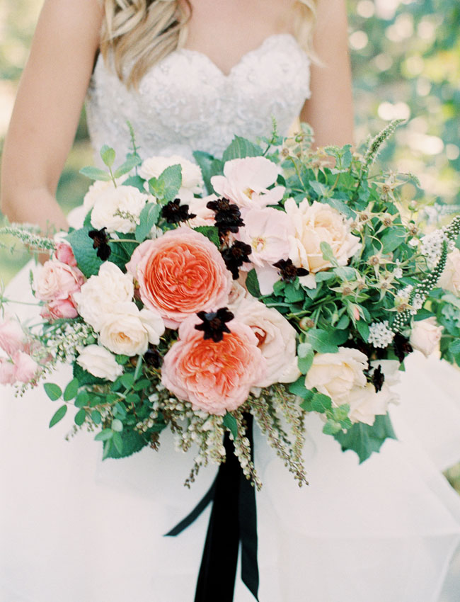 romantic with a touch of dark bouquet