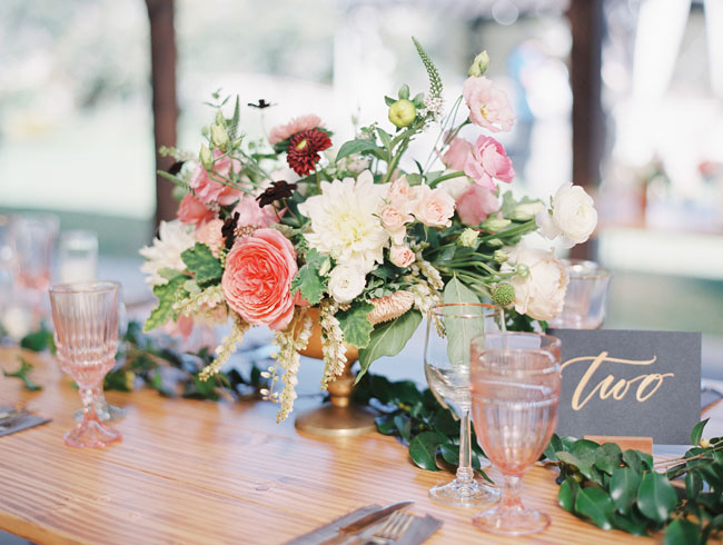 gold footed centerpieces